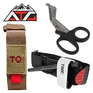 ATG Tactical Tourniquet & Trauma Medical Shear Pouch MOLLE PALS Duty Belt Loop EMT EMS (Tan)