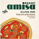 Amisa Bases De Pizza Sartén Profunda Sin Gluten Orgánica 2 X 130g (Paquete de 6)
