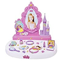 Children Pretend Play Disney Princess Vanity Studio Mirror Dressing Table Play Set with Accessories Included (Age Group: 3+)