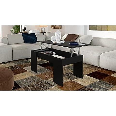 SWING Table basse transformable 100 cm - Noir mat