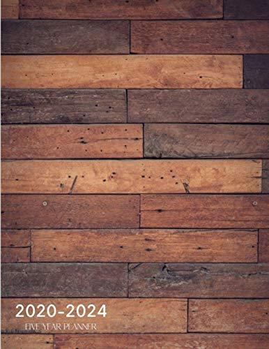 2020-2024 Five Year Planner: Monthly Calendar Schedule Organizer Wood Cover