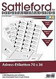 Sattleford Laserdrucker-Etikett: 2400 Adress-Etiketten 70x36 mm Universal für Laser/Inkjet (Drucker Etiketten)