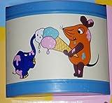 Wandleuchte Kinderleuchte Wandlampe Kinderlampe Lampe Sendung mit der Maus - Eis - mit Leuchtmittel