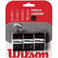 WILSON WRZ4025BK Profile Overgrip, Color Negro 3 Unidades, Adultos Unisex, Units, TU