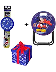 Kabello Combo for Kids Room Decoration Accessories Wall Hanging Clock and Folding Table for Kids Gift Multi Pack of 1 (M3)