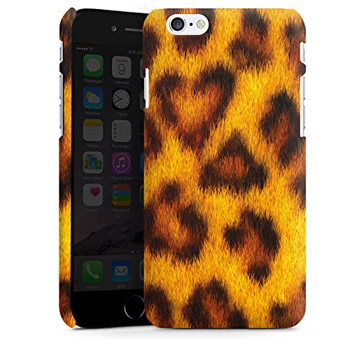 Apple iPhone X Silikon Hülle Case Schutzhülle Leopard Look Fell Tiere Premium Case matt