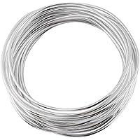5 Metros/Rollo de 2mm de Color de Aluminio Artesanía de Alambre Artesanías DIY Herramienta de Arreglo Floral Colorido Oxidación Redonda de Alambre De Aluminio(plata)