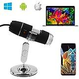 Digital Mikroskop, z-Roya 40bis 1600x Vergrößerung Endoskop, 2MP 8LED USB 2.0& Micro Digital Mikroskop, Mini Kamera mit Standfunktion, Kompatibel mit Mac Fenster 7810Android Linux