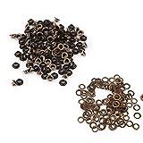 100pcs Occhielli in metallo Kit Occhielli piccoli con rondelle Fissaggio per pelle artigianale Cucito fai da te(4mm)