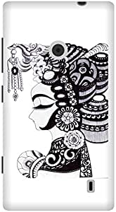 The Racoon Grip Lady hard plastic printed back case / cover for Nokia Lumia 520