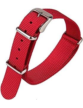 Uhrenarmband, Punktemuster, Blauer Nylon-Stoff, Leinwand-Band, Gewebeband, Nylon-Uhrenarmband, Militär-Stil, Armband...