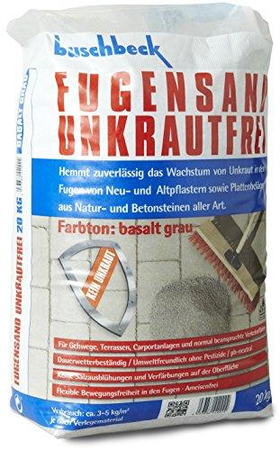 Buschbeck Fugensand Unkrautfrei BASALT GRAU 20kg-Sack (1,25€/kg)