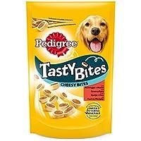 Tasty Bites Cheesy Bites Premios para Perros para educar Carne y Queso  - [Pack de 6]
