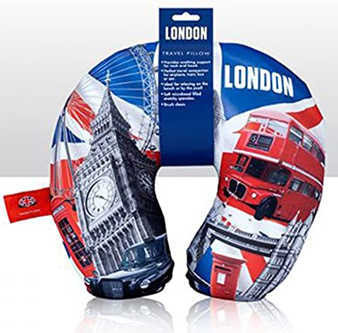 London Micro Beaded U Shaped Travel Neck Pillows Cushion Air Flight Car Travel