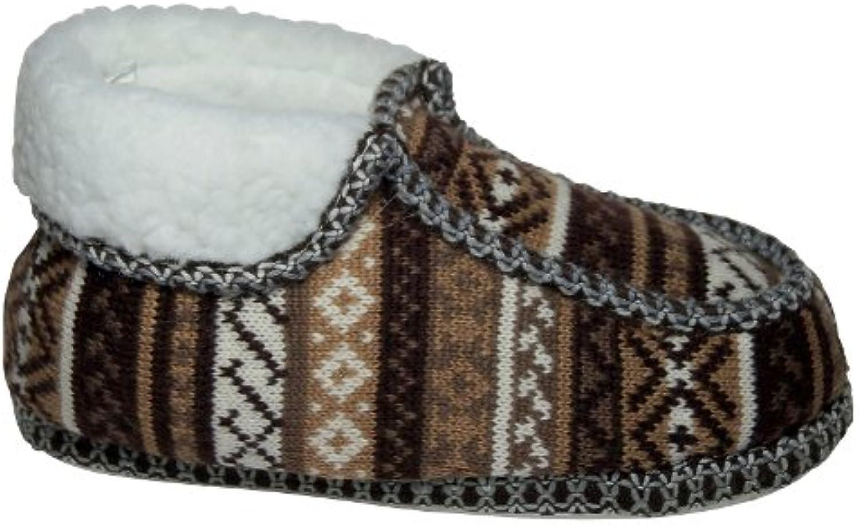 Unbekannt - Zapatillas de estar por casa de tela para mujer
