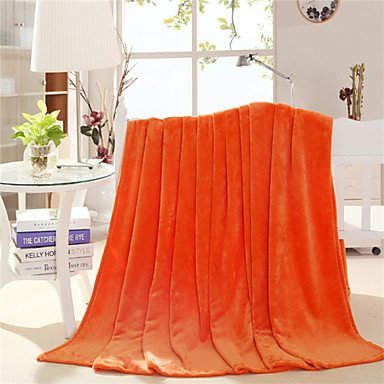 Orange Throw Blanket 100% Fleece Blau Grau Throw Blanket
