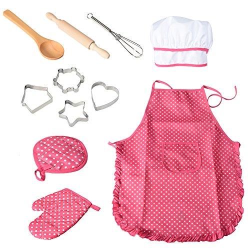 Twister.CK Chef Gioco di ruolo Set con vestiti e accessori per la cucina, Kids Pretend Gioca 11 pezzi di giocattoli Set, Regalo perfetto per Natale e Birthday Party