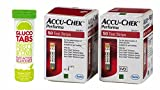 Accu Chek 100 Diabetes Test Strips & Gluco Tabs Fast Acting Chewable Dextrose