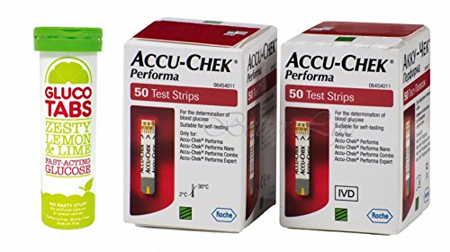 accu-chek-100-diabetes-test-strips-gluco-tabs-fast-acting-chewable-dextrose