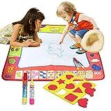 Tapis Dessin, BELLESTYLE 4 Couleurs Eau Peinture Doodle Tapis pour les Enfants