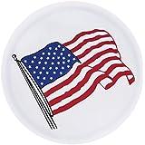 Sanlitock 16inch Tamaño L (76-79cm) Cubierta del neumático de la rueda de repuesto Material del PVC Bandera de los EEUU Impermeable 245 / 75R16 Blanco