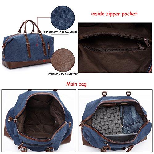 Fresion Travel Duffel Bag Tote Satchel Handbag Trage Tasche Große Kapazitäts Beiläufige Handtaschen für Damen Herren (Grau) Grau