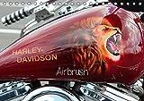 Harley Davidson - Airbrush (Tischkalender 2017 DIN A5 quer): Amerikas Motorradlegende Nr.1 (Monatskalender, 14 Seiten ) (CALVENDO Kunst)