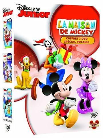 La maison de Mickey vol.1 : A la rescousse du Père Noël + Décollage pour Mars + La course en ballon avec Donald - coffret 3