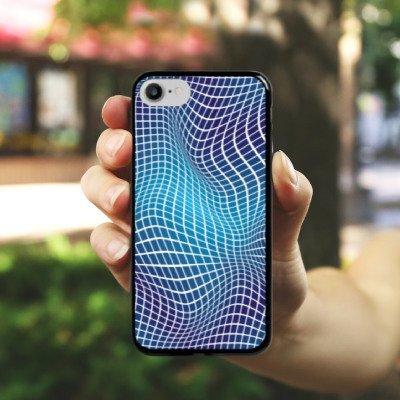 Apple iPhone X Silikon Hülle Case Schutzhülle Verzerrung Dimension Illusion Hard Case schwarz