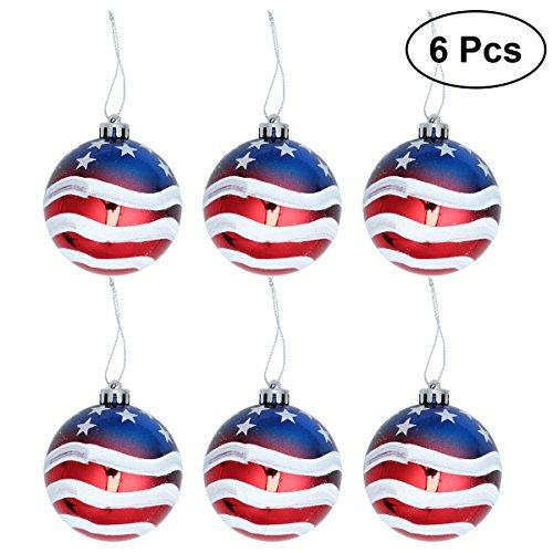 OUNONA 68cm Christmas Ball Ornaments Weihnachtsbaumschmuck für Urlaub Hochzeit Party Dekoration (die Sterne und die Streifen)