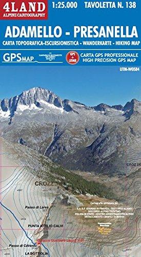 Adamello - Presanella 1: 25 000: Wanderkarte. GPS