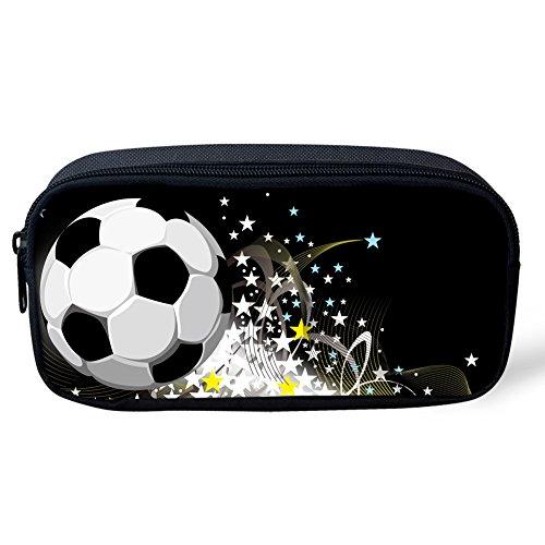 Kapazität Smart Print (Umarmungen Idee Fußball Print Federmäppchen Pen Tasche Stationery Tasche für Schule 22x4.5x11CM Football6)