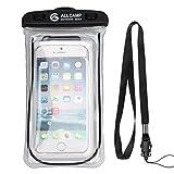 ALLCAMP Wasserdichte Telefon Dry Bag Tasche für Apple iPhone 6 Plus, 6 s Plus, 5 / 5s / 5c, Samsung Galaxy S8 S7 Rand, S6 Rand, S5, S4, Hinweis 4 für Handy (schwarz)