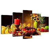Cuadro sobre lienzo - 5 piezas - Impresión en lienzo - Ancho: 150cm, Altura: 100cm - Foto número 0462 - listo para colgar - en un marco - EA150x100-0462