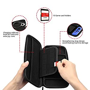 Nintendo Switch Case , Storage & Carrying Protective Case, BLACK Protective Hard Portable Travel Carry Case Shell Pouch, by You and Me