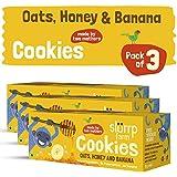 Slurrp Farm Cookies : Oats, Honey and Banana (Pack of 3)