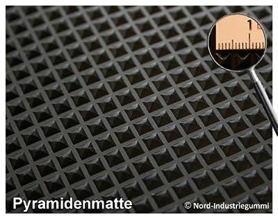 1m Pyramidenmatte 120 X 083m Strke 3mm Farbe Schwarz von Nord-Industriegummi