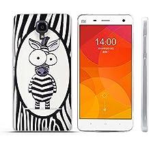 Funda Xiaomi Mi4 - Fubaoda - 3D Realzar, Linda Patrón, Gel de Silicona TPU, Fina, Flexible, Resistente a los arañazos en su parte trasera, Amortigua los golpes, funda protectora anti-golpes para Xiaomi Mi4