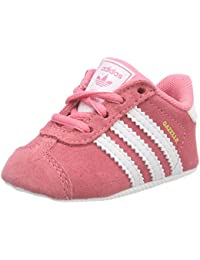adidas - Gazelle Crib, Zapatillas Bebé-Niñas, Rosa (Chalk Pink/Footwear White/Footwear White 0), 16 EU