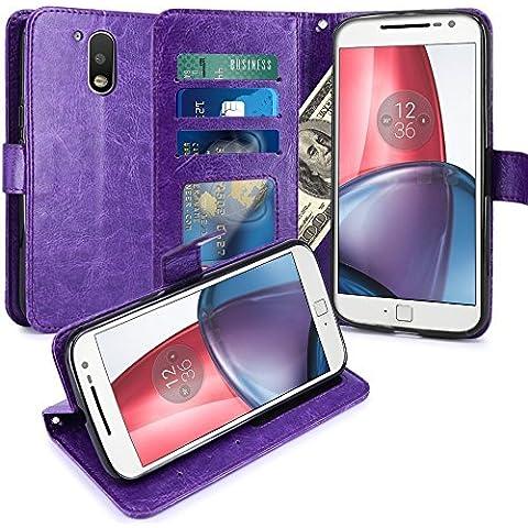 Motorola Moto G4/G4più–Custodia di lusso portafoglio porta carte e Biglietto
