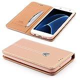 [S7 EDGE] Handy Schutz Tasche Noble Series Cover für Samsung Galaxy [S7 EDGE] edle Book Style Hülle mit Aufstellfunktion und Kartenfach ScorpioCover rose gold