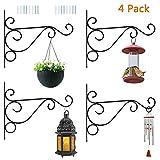 Scoolr Lot de 2 Supports muraux pour Plantes suspendues, pour paniers de Jardin, Lanterne de pelouse, Lanterne Lumineuse, Pots de Fleurs, Suspension de Jardinage, 25,4 cm