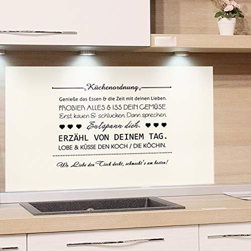 GRAZDesign Küchenrückwand Glas-Bild Spritzschutz Herd Edler Kunstdruck hinter Glas Bild-Motiv Küchenordnung Eyecatcher für Zuhause / 60x40cm