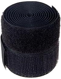 Klettband 25 mm schwarz Hacken und Flausch 0.9Meter