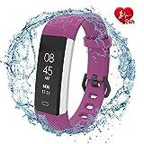Fitpolo SmartwatchDamen Fitness Armband mit Pulsmesser Wasserdicht IP67, Aktivitätstracker...