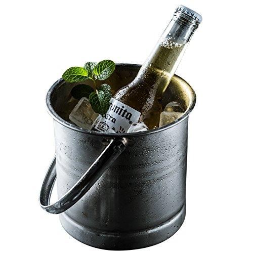 SunYiXin Edelstahl Eis Eimer Bar KTV Outdoor-Home Eis Eimer Bier Rotwein Champagner (Erfrierungen Eis)