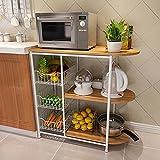 HWF Estantes y soportes para ollas y sartenes Estante de cocina Estante de horno de microondas Estante multifunción Estante de almacenamiento Estantes Creativo ( Color : A )