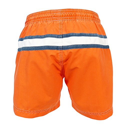 les loulous de la plage Herren Badeshort orange band