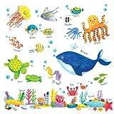 DECOWALL Bajo el Mar Vinilo Pegatinas Decorativas Adhesiva Pared...