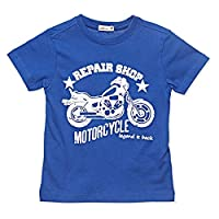 AdAms Kids True Blue Round Neck T-Shirt For Boys-8 Years